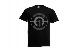 Daft Donkey T-Shirt 'Subdued Zero One Logo' (Black) - Size Extra Large