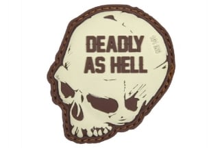 "101 Inc PVC Velcro Patch ""Deadly as Hell"" (Brown)"