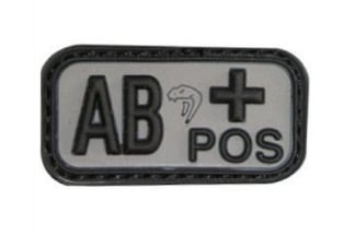 Viper Velcro PVC Blood Group Patch AB+ (Black)