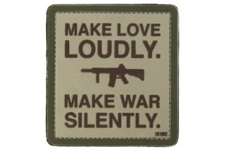 "101 Inc PVC Velcro Patch ""Make Love Loudly"""