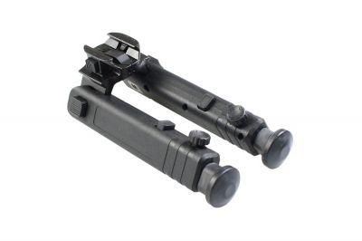 Matrix Compact Collapsible Polymer RIS Bipod (Black)