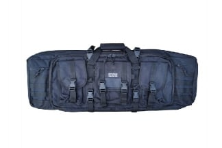 Humvee Rifle Case with Side Pouches & Shooting Mat (Black)