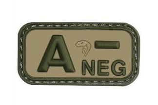 Viper Velcro PVC Blood Group Patch A- (MultiCam)