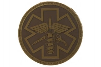 "101 Inc PVC Velcro Patch ""Paramedic"" (Dark Earth)"