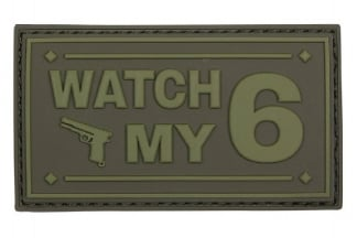 "101 Inc PVC Velcro Patch ""Watch My 6"" (Olive)"