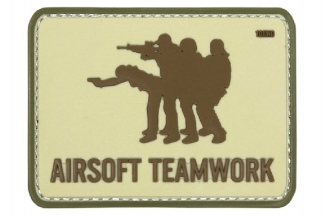 "101 Inc PVC Velcro Patch ""Airsoft Teamwork"""