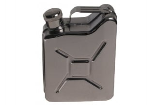 MFH Stainless Steel Jerry Can Style Hip Flask