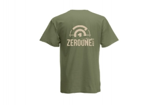 Daft Donkey T-Shirt 'Sunset Zero One Logo' (Olive) - Size Small
