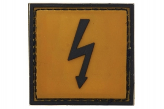 "101 Inc PVC Velcro Patch ""High Voltage"""