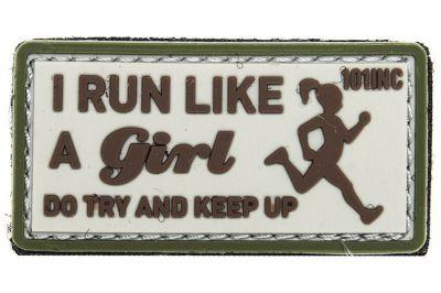 "101 Inc PVC Velcro Patch ""I Run Like"" (Brown)"