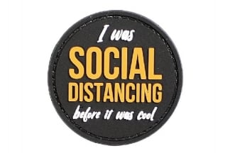 EB PVC Velcro Patch 'I Was Social Distancing Before It Was Cool'