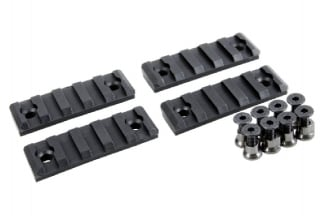 EB Polymer 20mm Rail Set for KeyMod (Black) 5 Slots