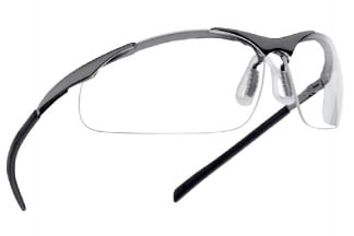 Bollé Protection Glasses Contour with Brushed Metal Frame and Clear Lens