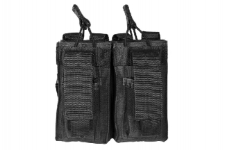 NCS VISM MOLLE Double Mag Pouch for M4 with Pistol Mag Pouches (Black)