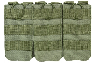 NCS VISM MOLLE Triple Mag Pouch for M4 (Olive)