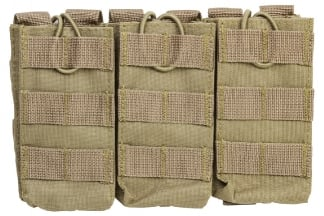 NCS VISM MOLLE Triple Mag Pouch for M4 (Tan)