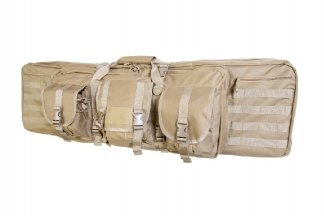 "NCS VISM MOLLE Double Rifle Case 42"" with Side Pouches (Tan)"