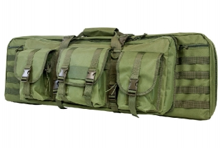 "NCS VISM MOLLE Double Rifle Case 36"" with Side Pouches (Olive)"