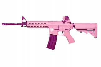G&G Combat Machine AEG with Blowback FF15-L Pink Storm