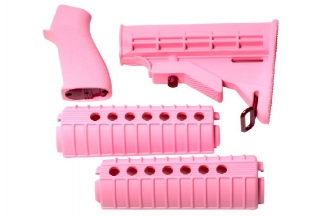 G&G Handguard & Stock Set for M4 (Pink)