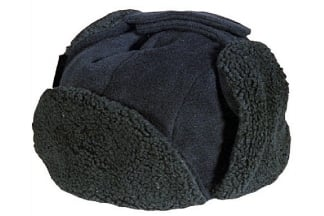 Mil-Com Sherpa Fleece Hat (Black) - Size Medium