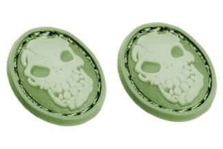 "EB Velcro ""Oval Skull"" Mini Patch - Pack of Two"