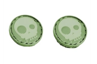 "EB Velcro ""Round Skull"" Mini Patch - Pack of Two"