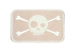 "King Arms Velcro Patch ""Funny Skull"" (Tan)"
