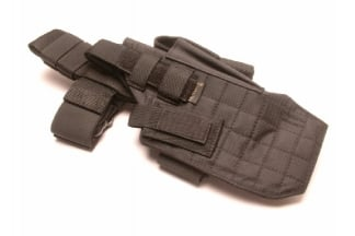 Mil-Force Extra Large Drop Leg Thigh Holster, Right Handed (Black)