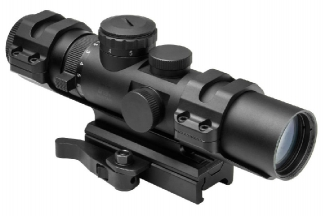 NCS 2-7x32 Blue Illuminating Scope with Mil-Dot Reticle & QR Mount