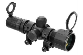 NCS 3-9x42 Rubber Armoured Red/Green Illuminating Scope with P4 Sniper Reticule & 20mm Mount Rings