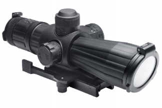 NCS 4x32 Rubber Armoured Blue Illuminating Scope with Integrated Laser & QD Mount