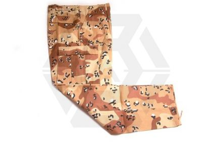 U.S. BDU Rip-Stop Trousers (Desert Choc-Chip) - Size Extra Large © Copyright Zero One Airsoft