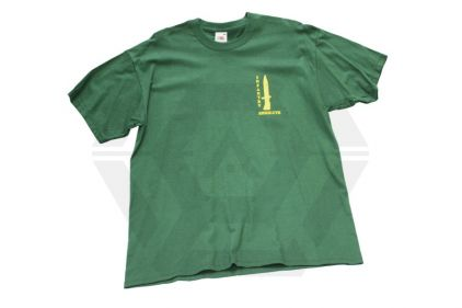 "Infantry ""Resolute"" Bayonet T-Shirt (Green) - Size Large"