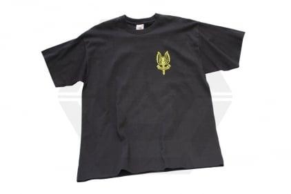 SAS Logo T-Shirt (Black) - Size Extra Extra Large