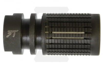 Iron Airsoft Flash Suppressor 14mm CCW KAC Style