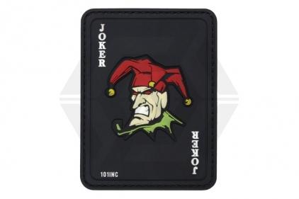 "101 Inc PVC Velcro Patch ""Joker"" (Black)"