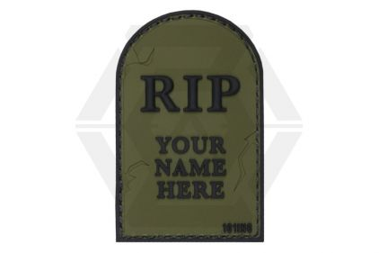 "101 Inc PVC Velcro Patch ""RIP"" (Olive)"