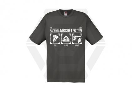 Daft Donkey Special Edition NAF 2018 'Eat, Sleep, Airsoft' T-Shirt (Grey) - £12.50