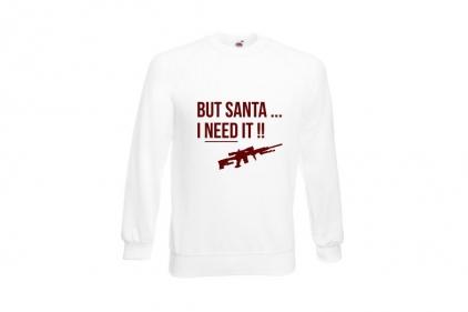 Daft Donkey Christmas Jumper 'Santa I NEED It Sniper' (White) - Size Extra Large - £16.95