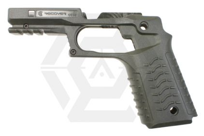 Recover CC3 Grip & Rail System for Marui 1911 (Olive)