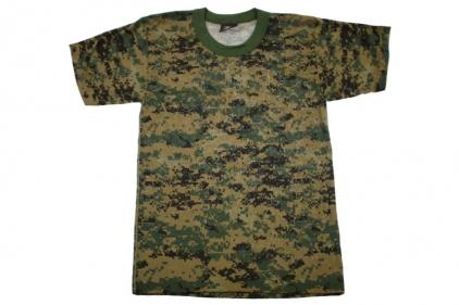 Tru-Spec Plain T-Shirt (Digital Woodland) - Size Medium