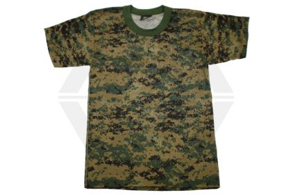 Tru-Spec Plain T-Shirt (Digital Woodland) - Size Extra Large