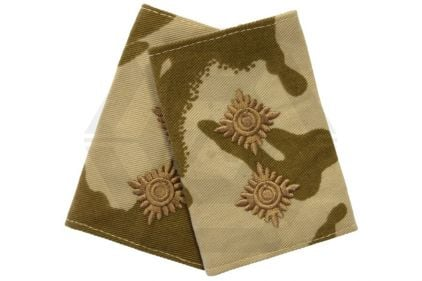 Rank Slide Pair (Desert DPM) - Lieutenant