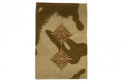 Rank Slide Pair (Desert DPM) - Lieutenant