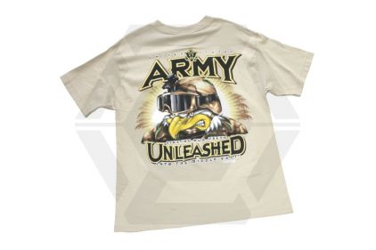 7.62 Design T-Shirt 'Army Unleashed' (Tan) - Size Extra Large