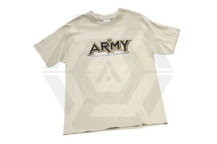 7.62 Design T-Shirt 'Army Unleashed' (Tan) - Size Large