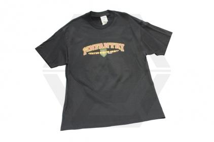 7.62 Design T-Shirt 'Big Red One' (Black) - Size Large