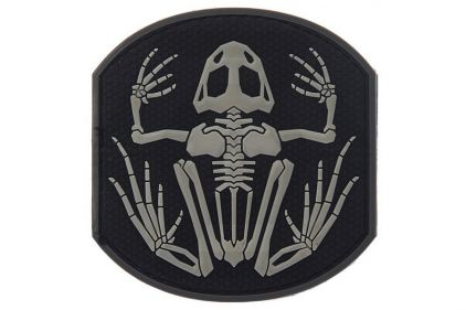 "101 Inc PVC Velcro Patch ""Frog Skeleton"" (Black) © Copyright Zero One Airsoft"