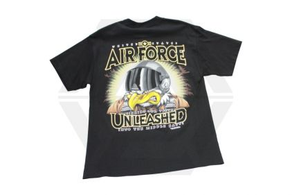 7.62 Design T-Shirt 'USAF Unleashed' (Black) - Size Medium